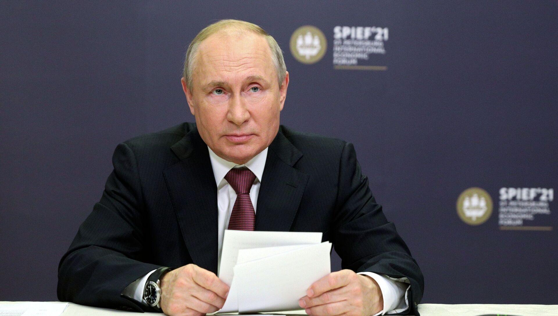 Президент РФ Владимир Путин, фото из архива - Sputnik Азербайджан, 1920, 03.06.2021