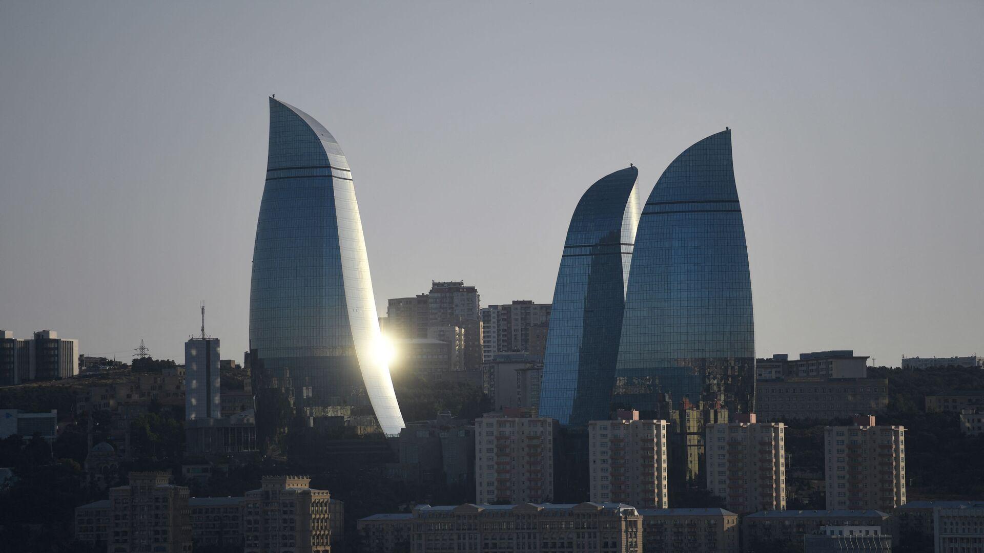 Вид на Flame Towers (Пламенные башни) в Баку, фото из архива - Sputnik Азербайджан, 1920, 17.06.2021