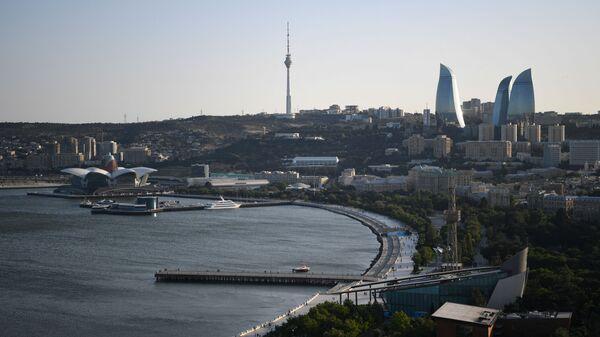 Вид на Flame Towers (Пламенные башни) в Баку, фото из архива - Sputnik Азербайджан