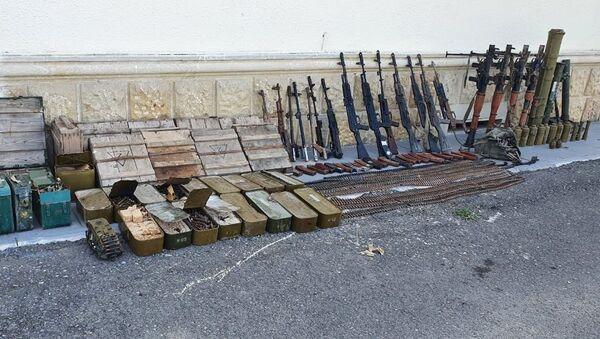 Запасы вооруженных сил Армении, оставленные ими при отступлении - Sputnik Azərbaycan