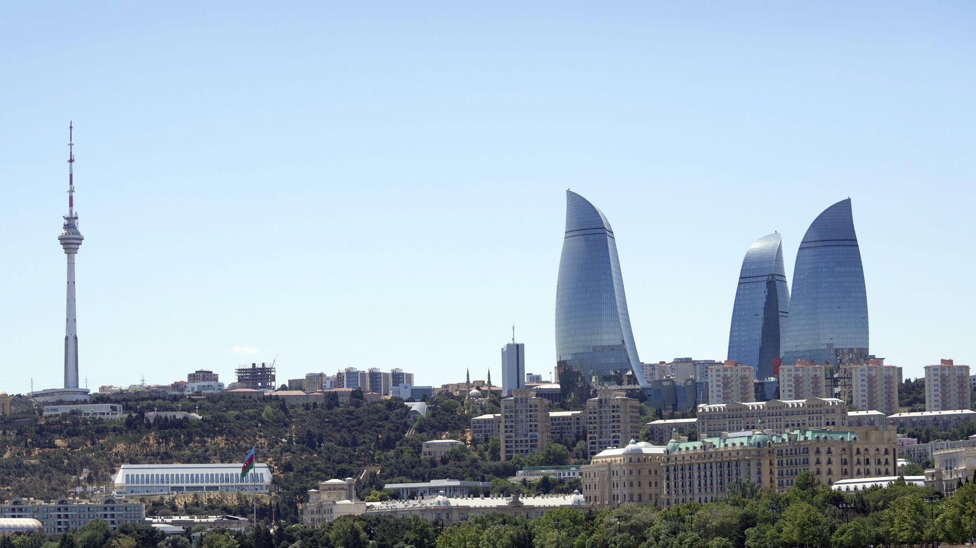 Вид на Flame Towers (Пламенные башни) в Баку, фото из архива - Sputnik Азербайджан, 1920, 11.08.2021