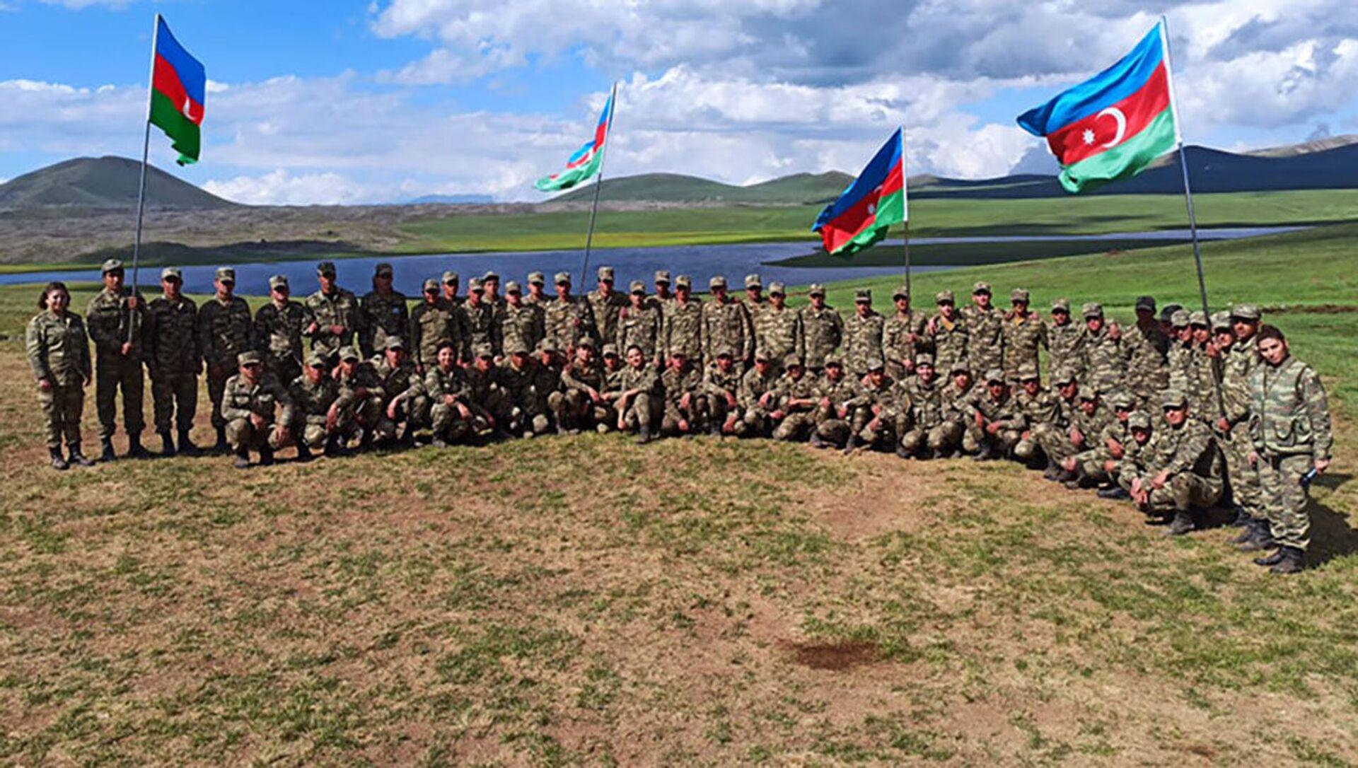 Мероприятия с участием азербайджанских военнослужащих - Sputnik Азербайджан, 1920, 08.06.2021