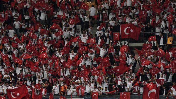 Фанаты сборной Турции на стадионе, фото из архива - Sputnik Азербайджан