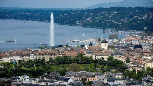 Вид на Женеву, фото из архива - Sputnik Азербайджан