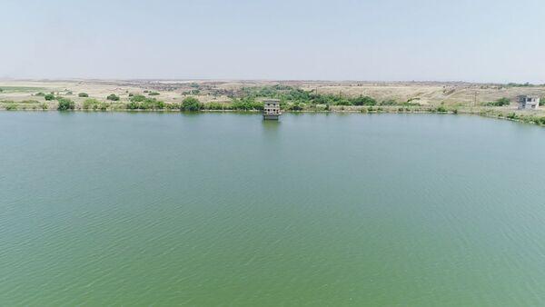 Водохранилище Ашагы Конделенчай в Физулинском районе - Sputnik Азербайджан