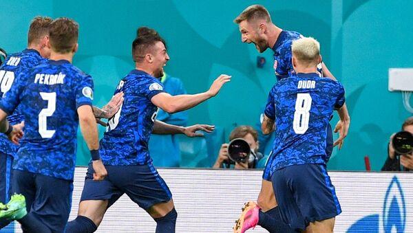 Футболисты сборной Словакии - Sputnik Азербайджан