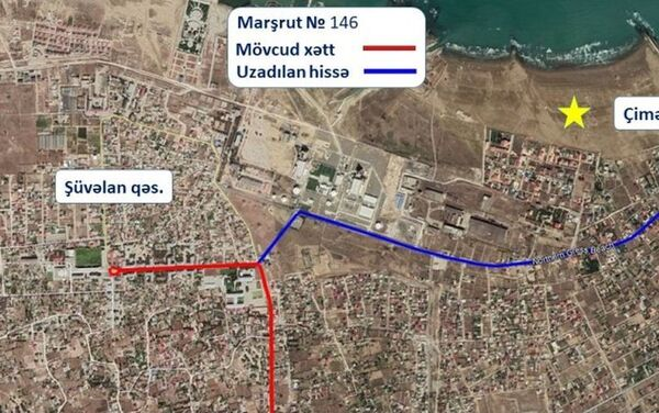 Маршрут движения автобуса номер 146 - Sputnik Азербайджан