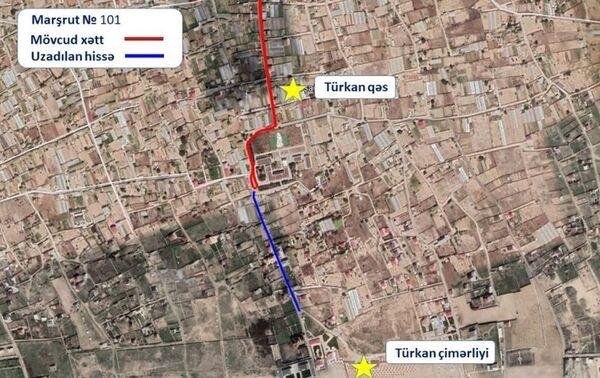 Маршрут движения автобуса номер 101 - Sputnik Азербайджан