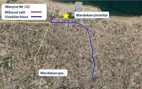 Маршрут движения автобуса номер 182 - Sputnik Азербайджан