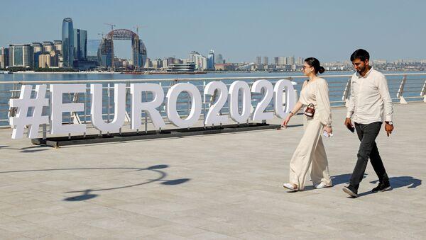 Уличная инсталляция чемпионата Европы по футболу ЕВРО-2020 в Баку - Sputnik Азербайджан