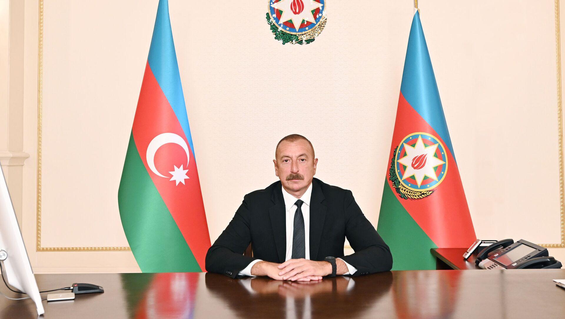 Выступление Президента Ильхама Алиева в видеоформате на II саммите ОИС по науке и технологиям - Sputnik Азербайджан, 1920, 16.06.2021