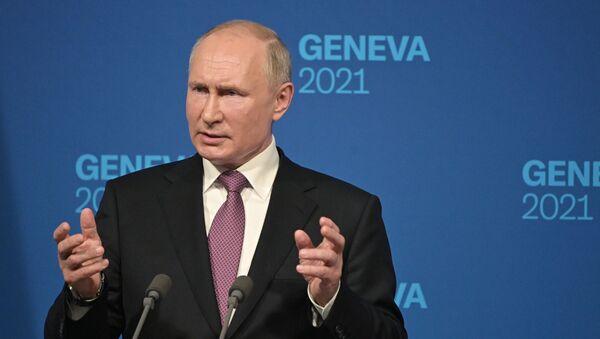 Встреча президентов России и США В. Путина и Дж. Байдена в Женеве - Sputnik Азербайджан