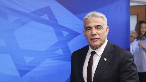 Глава министерства иностранных дел Израиля Яир Лапид - Sputnik Азербайджан