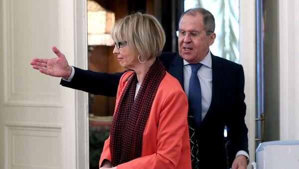 Встреча главы МИД РФ и генсекретаря ОБСЕ С. Лаврова и Х. Шмид - Sputnik Азербайджан
