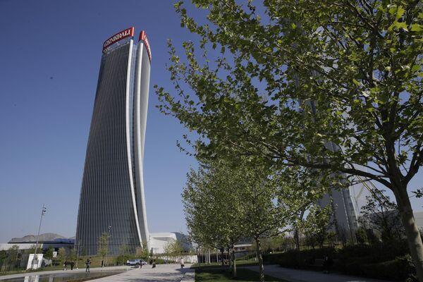 Вид на небоскреб Generali Tower - Sputnik Азербайджан