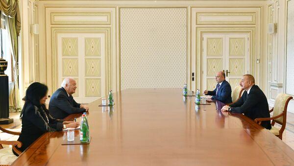 Prezident İlham Əliyev BMT-nin Sivilizasiyalar Alyansının ali nümayəndəsini qəbul edib - Sputnik Азербайджан