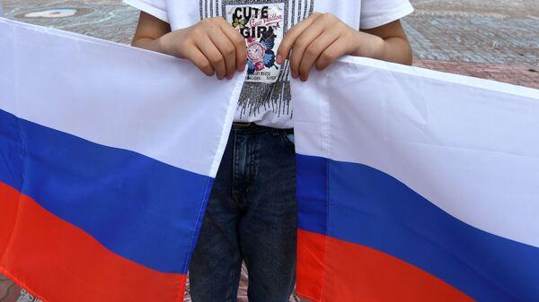 Rusiya bayrağı, arxiv şəkli - Sputnik Азербайджан
