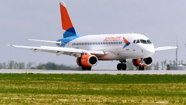 Самолет авиакомпании Азимут, фото из архива - Sputnik Азербайджан