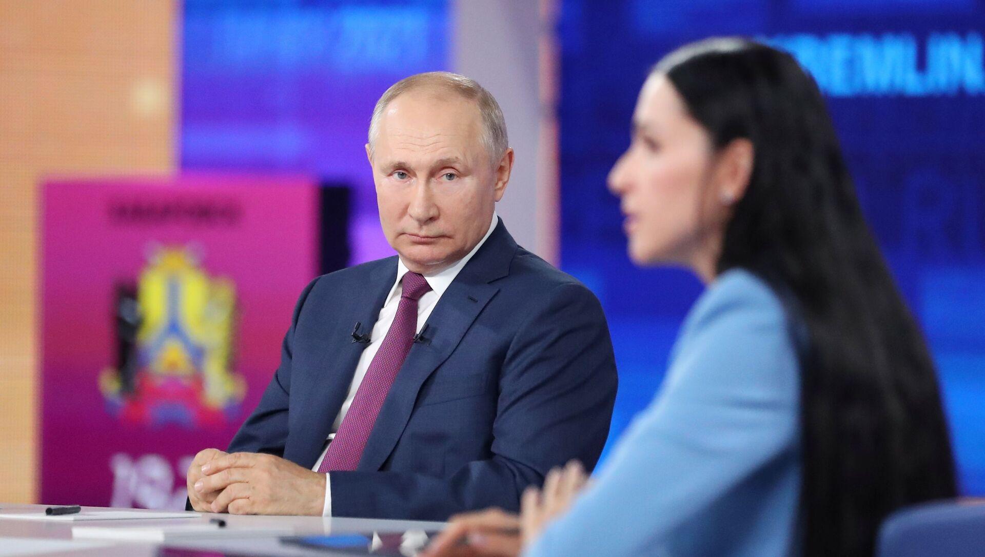 Rusiya prezidenti Vladimir Putin, 30 iyun 2021-ci il  - Sputnik Азербайджан, 1920, 30.06.2021