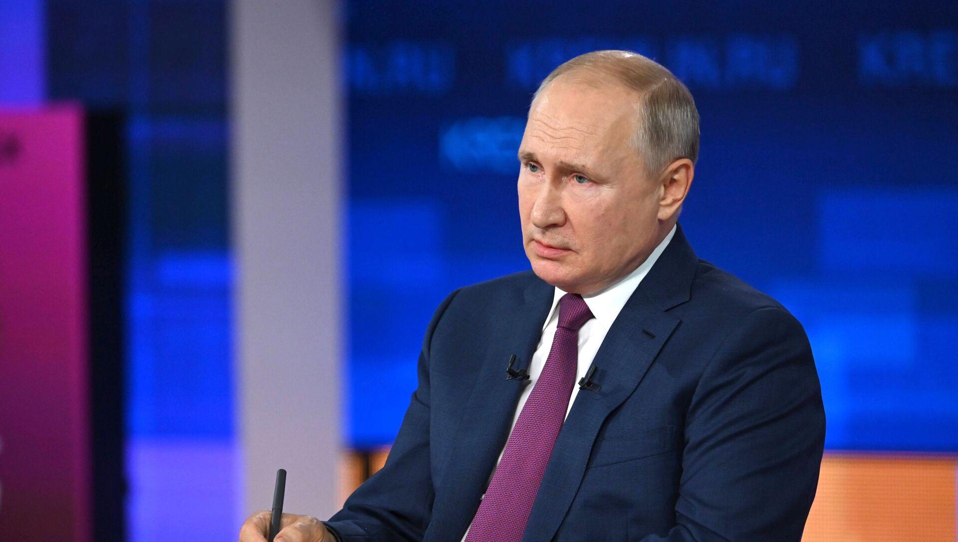 Rusiya prezidenti Vladimir Putin, 30 iyun 2021-ci il - Sputnik Азербайджан, 1920, 03.07.2021