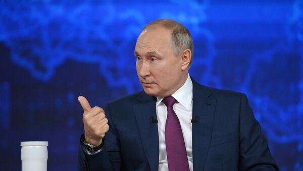 Rusiya prezidenti Vladimir Putin, 30 iyun 2021-ci il - Sputnik Azərbaycan