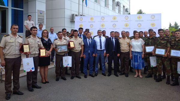 Церемония награждение сотрудников МЧС Азербайджана - Sputnik Азербайджан