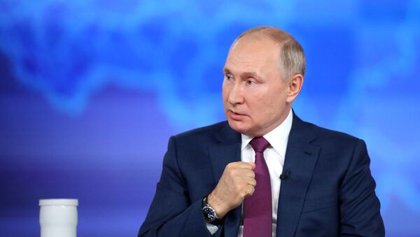 Rusiya prezidenti Vladimir Putin, 30 iyun 2021-ci il - Sputnik Азербайджан
