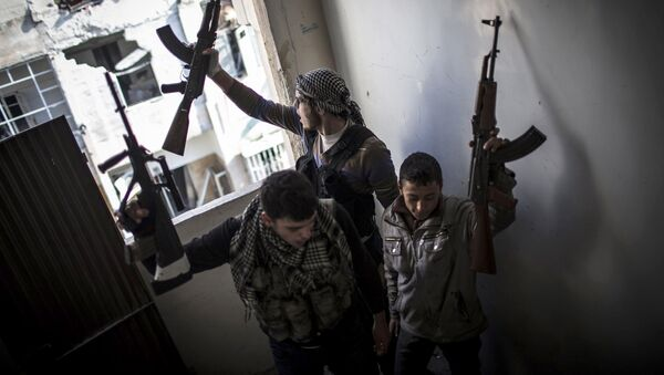 Повстанцы из FSA  (Free Syrian Army) - Sputnik Азербайджан