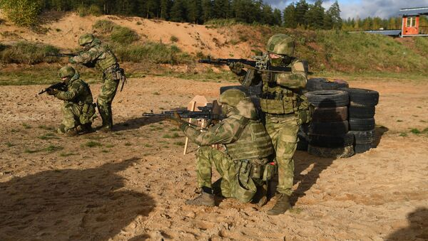 Тренировка спецназа Западного военного округа - Sputnik Азербайджан