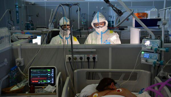 Резервный госпиталь COVID-19 в КВЦ Сокольники, фото из архива - Sputnik Азербайджан