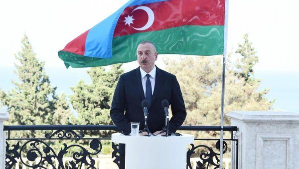 Prezident İlham Əliyev və Şarl Mişel birgə mətbuat konfransı keçiriblər - Sputnik Азербайджан