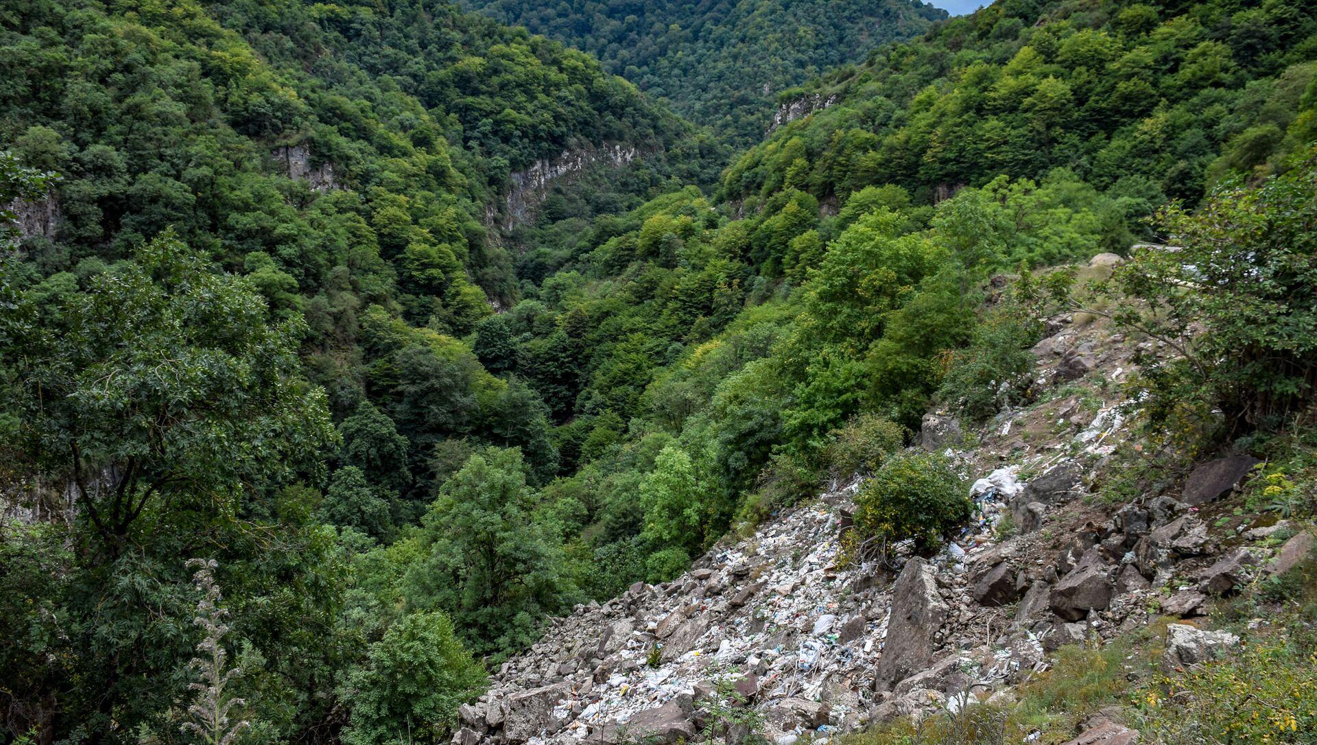 Tovuz rayonunun Əsrik dərəsi ərazisində məişət tullantıları - Sputnik Azərbaycan, 1920, 30.08.2021