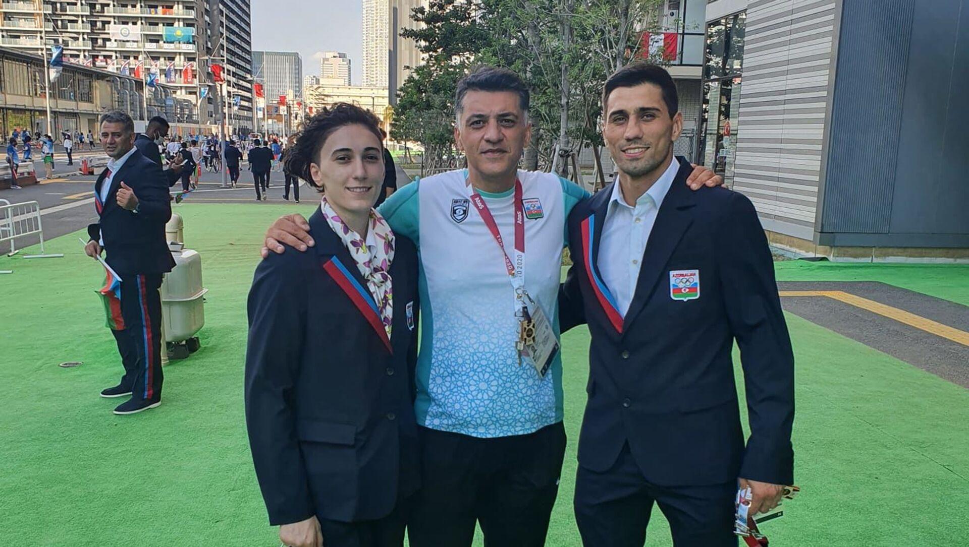 Азербайджанская делегация в Олимпийской деревне в Токио - Sputnik Азербайджан, 1920, 23.07.2021