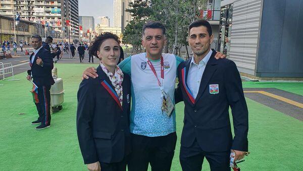 Азербайджанская делегация в Олимпийской деревне в Токио - Sputnik Азербайджан