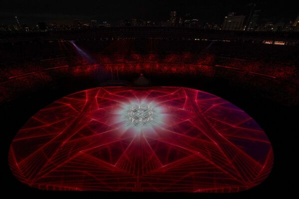 На церемонии открытия 32-летних Олимпийских игр - Sputnik Азербайджан