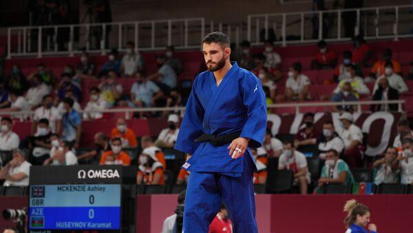 Азербайджанский дзюдоист Карамат Гусейнов на Олимпийских играх 2020 в Токио - Sputnik Азербайджан