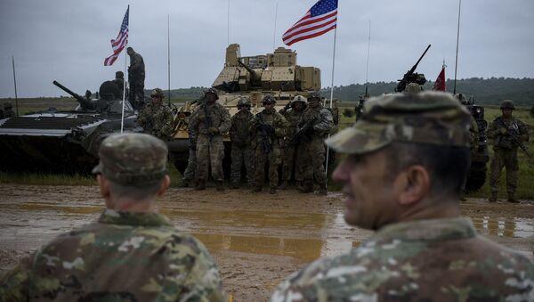 Военнослужащие армии США на совместных тактических учениях «Балканский Страж 21» с армиями Болгарии и Грузии, фото из архива - Sputnik Azərbaycan