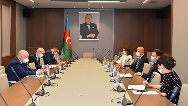 В министерстве иностранных дел Азербайджана прошла встреча с докладчиком комитета по миграции, беженцам и населению Парламентской Ассамблеи Совета Европы (ПАСЕ) Полом Гаваном - Sputnik Азербайджан