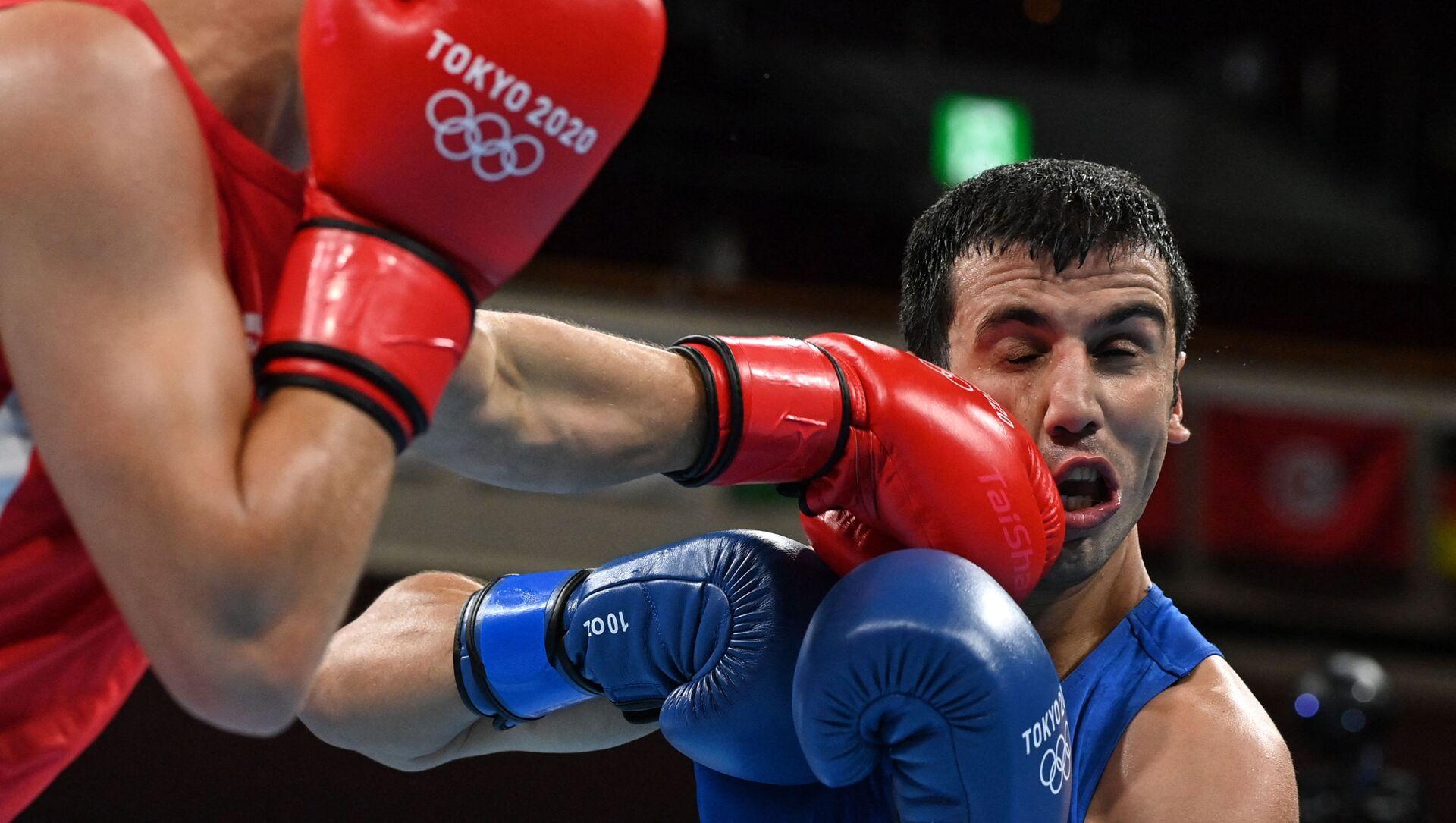 Азербайджанский боксер Джавид Челебиев - Sputnik Азербайджан, 1920, 31.07.2021