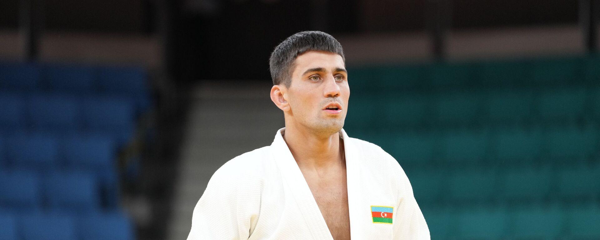 Азербайджанский дзюдоист Рустам Оруджев, фото из архива - Sputnik Азербайджан, 1920, 07.10.2021