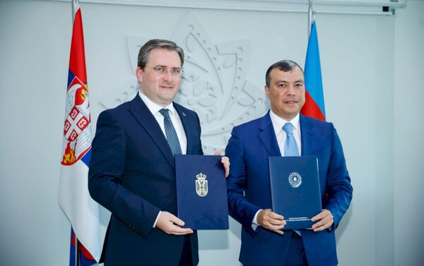 VI заседание Межправительственной комиссии по торгово-экономическому сотрудничеству между Азербайджанской Республикой и Сербской Республикой - Sputnik Азербайджан