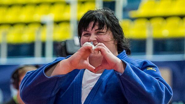 Азербайджанская дзюдоистка Ирина Киндзерская, фото из архива  - Sputnik Азербайджан