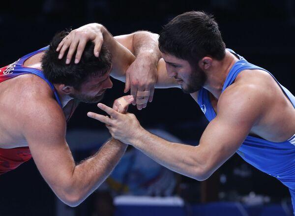 Главное, чтобы в соперники ему на начальной стадии не достался олимпийский чемпион, четырехкратный чемпион мира Абдулрашид Садуллаев (Россия). - Sputnik Азербайджан