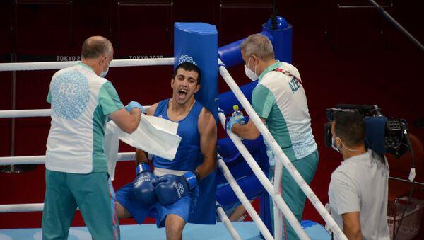 Азербайджанский боксер Джавид Челебиев - Sputnik Азербайджан