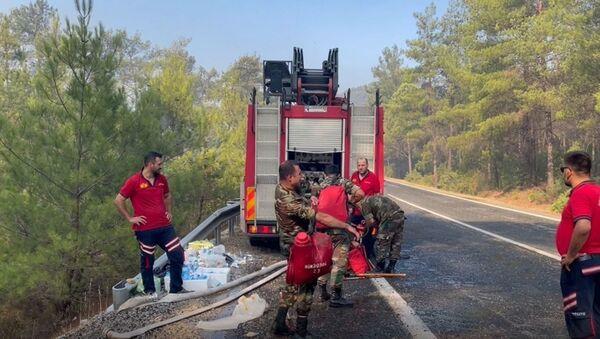Азербайджанские пожарные в Турции - Sputnik Азербайджан