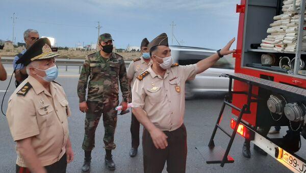 FHN-in yanğınsöndürmə qüvvələrinin əməkdaşlarından ibarət ikinci qrup da Türkiyəyə yola salınıb - Sputnik Azərbaycan