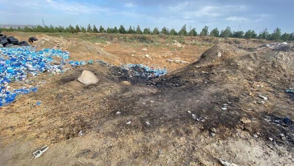 Сгоревшие водяные счетчики, принадлежащие Азерсу - Sputnik Азербайджан