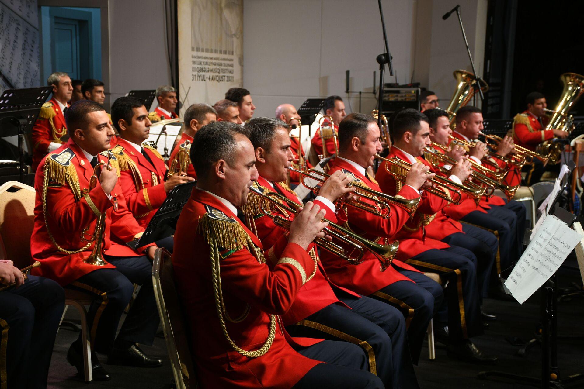 Выступление оркестра на XII Габалинском музыкальном фестивале - Sputnik Азербайджан, 1920, 01.10.2021