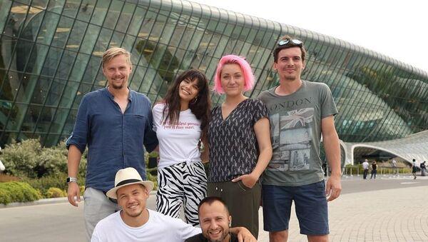 Съемочная группа российского travel-шоу «Орёл и решка» - Sputnik Азербайджан