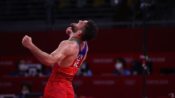 Азербайджанский борец Гаджи Алиев на Олимпийских играх в Токио - Sputnik Азербайджан